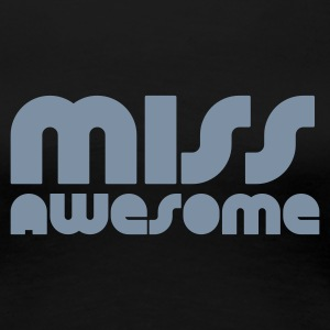 Svart miss awesome T-skjorter - Premium T-skjorte for kvinner