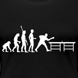 Schwarz evolution_table_tennis_a T-Shirts - Frauen Premium T-Shirt