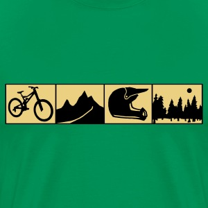 Mountainbiking - Männer Premium T-Shirt