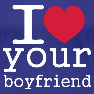 Koningsblauw i love your boy friend T-shirts - Vrouwen Premium T-shirt