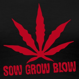 Black Sow Grow Blow - cannabis life cycle  Women's T-Shirts - Women's Premium T-Shirt