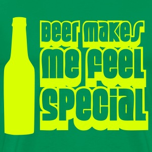 Bottlegreen beer_makes_me_feel_special T-shirts - Mannen Premium T-shirt