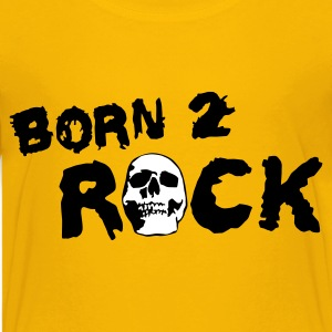 Gelb born_2_rock_c_2c Kinder T-Shirts - Teenager Premium T-Shirt