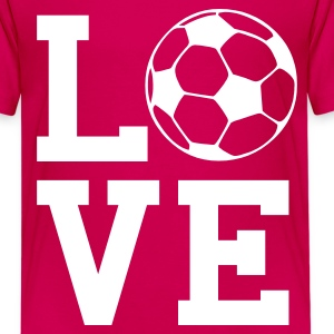 Pink love soccer Kids' Shirts - Teenage Premium T-Shirt