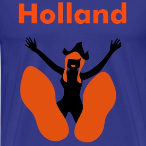 Koningsblauw Pin up Holland op Klompen T-shirts - Mannen Premium T-shirt