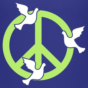 Turquoise vrede en duiven / peace 'n doves (2c) Kinder shirts - Teenager Premium T-shirt