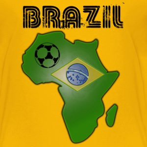 Yellow Brazil in Africa Kids' Shirts - Teenage Premium T-Shirt