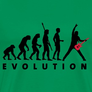 Moss green evolution_guitar_d_2c Men's T-Shirts - Men's Premium T-Shirt