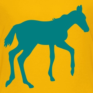 Yellow Horse pony riding race horses - foal - small horse  Kids' Shirts - Teenage Premium T-Shirt