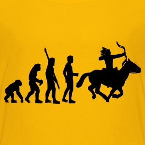 Yellow evolution_indianer_1c Kids' Shirts - Teenage Premium T-Shirt