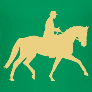 Kelly green Dressage Horse Kids' Shirts - Teenage Premium T-Shirt