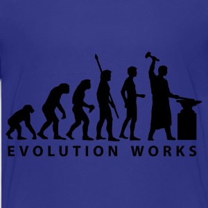 Cyan evolution_schmied Kids' Shirts - Teenage Premium T-Shirt