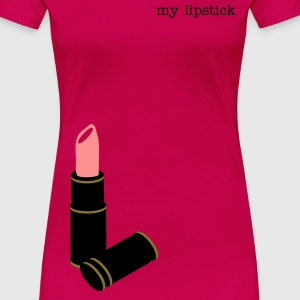Light pink lip stick modern retro Women's T-Shirts - Women's Premium T-Shirt