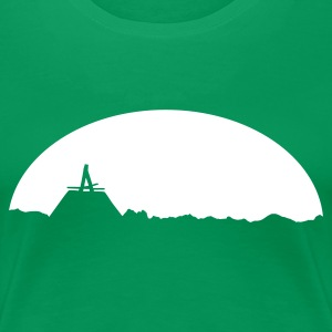 Kelly green Skyline T-Shirts - Frauen Premium T-Shirt