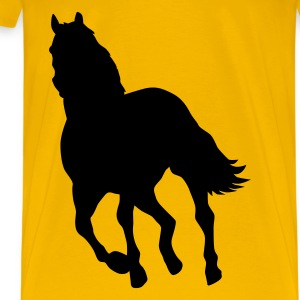 Yellow Horse pony riding horse Men's T-Shirts - Men's Premium T-Shirt