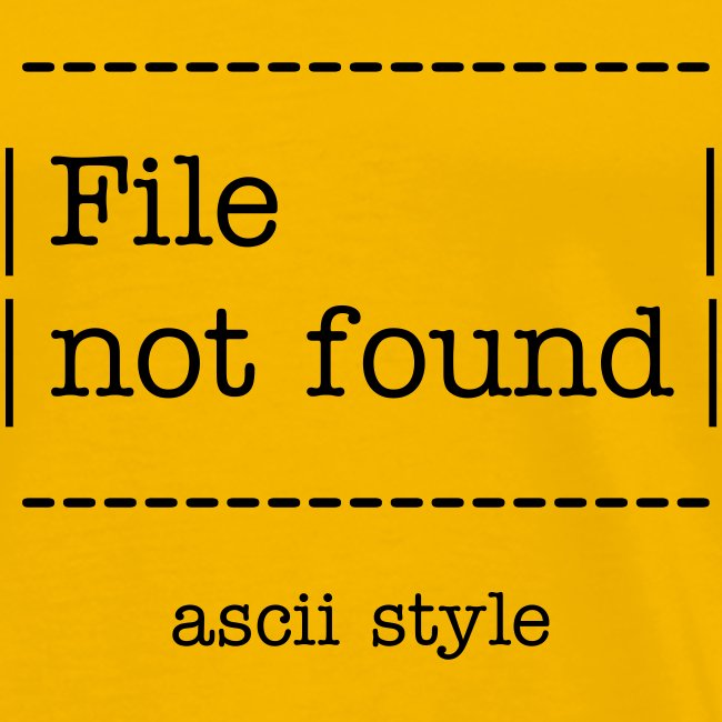 File not found Ascii style