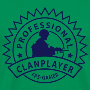 Moss green clanplayer Men's T-Shirts - Men's Premium T-Shirt