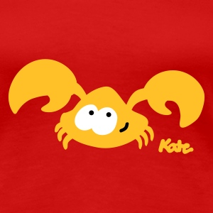 Dark red Baby Crab (2c) Women's T-Shirts - Women's Premium T-Shirt