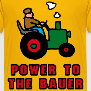 Gelb power_to_the_bauer_d Kinder T-Shirts - Teenager Premium T-Shirt