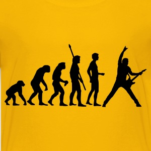 Yellow evolution_guitar_b Kids' Shirts - Teenage Premium T-Shirt