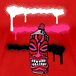 SPRAY TIKI STRIPES (P UK) by toneyshirts.de - Women's Premium T-Shirt