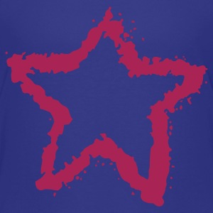 Cyan star, overspray of paint 4 Kids' Shirts - Teenage Premium T-Shirt