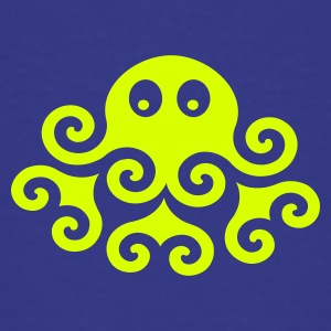 Cyan Krake / Octopus (1c) Kids' Shirts - Teenage Premium T-Shirt