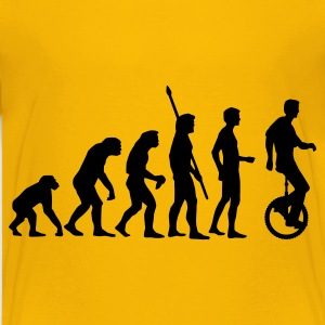 Yellow evolution_einradfahrer_1c Kids' Shirts - Teenage Premium T-Shirt