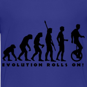 Cyan evolution_einradfahrer_1c_b Kids' Shirts - Teenage Premium T-Shirt