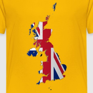 Map of the UK and Crown Dependencies - Teenager Premium T-Shirt