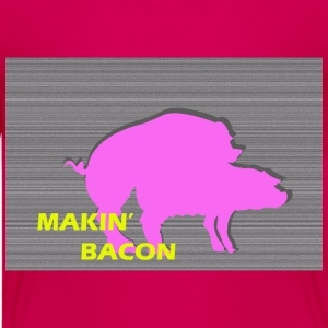 Roze Varkens Makin' bacon  Kinder shirts - Teenager Premium T-shirt
