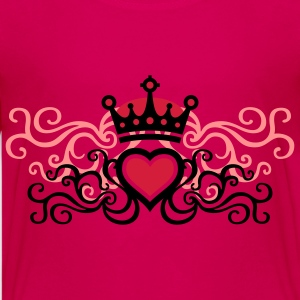 tribal_heart_d_3c Shirts - Teenage Premium T-Shirt
