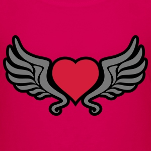 tribal_heart_wings_kontur_3c Shirts - Teenage Premium T-Shirt