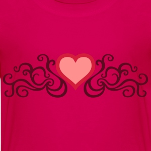 tribal_heart_3c Shirts - Teenage Premium T-Shirt