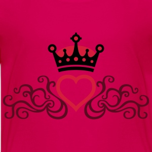 tribal_heart_crown_3c Shirts - Teenage Premium T-Shirt