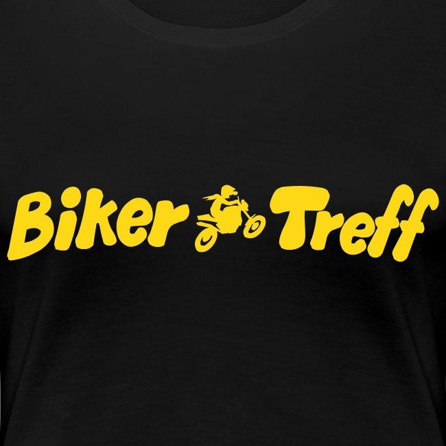 Frauen XL Shirt in 6 Farb. Nick auf Arm Motiv: gelb