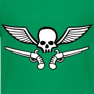 wingskull_comic_pistol_2c Shirts - Teenage Premium T-Shirt