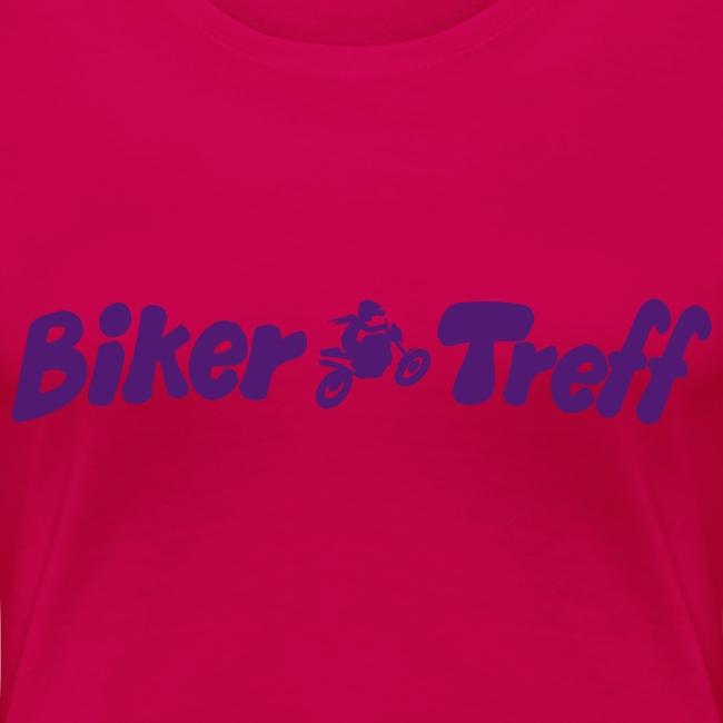 Frauen XL Shirt in 6 Farb. Nick auf Arm, Motiv: lila
