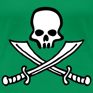 skull_comic_swords_b_2c T-shirts - Vrouwen Premium T-shirt