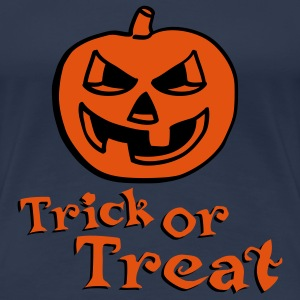 halloween_pumpkin_2c_trick_or_treat T-skjorter - Premium T-skjorte for kvinner