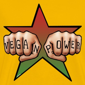 Vegan Power (tattoo) - Männer Premium T-Shirt