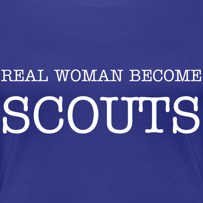 REAL WOMAN BECOME SCOUT