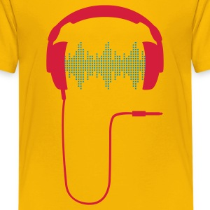 Headphone DJ club music sound turntable Party Sound Beat Kids' Shirts - Teenage Premium T-Shirt