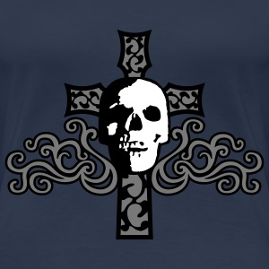tribal_skull_cross_c_3c T-skjorter - Premium T-skjorte for kvinner