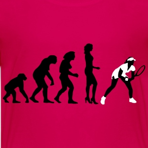 evolution_female_tennis_2c T-shirts - Premium-T-shirt tonåring