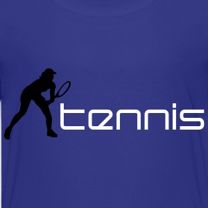 tennis_female_f_2c T-shirts - Teenager premium T-shirt