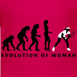 evolution_female_tennis_b_2c T-shirts - Premium-T-shirt tonåring