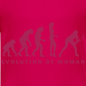 evolution_female_tennis_b_1c T-shirts - Premium-T-shirt tonåring