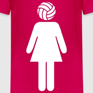 Volleyball Woman Barneskjorter - Premium T-skjorte for tenåringer