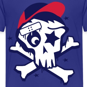 Skater  Skull Kinder T-Shirts - Teenager Premium T-Shirt